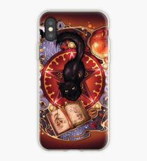 Vinilo o funda para iPhone Magia del gato negro