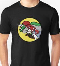 Camiseta ajustada Horned Warrior Friends ROLLER DERBY (Unicornio, Narwhal, Rhino, Triceratops)