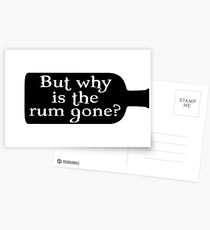 Captain Jack Sparrow - But why is the rum gone?  Postcards