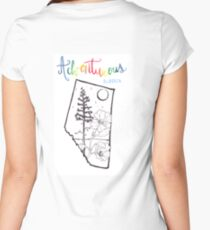 Adventurous Alberta Women's Fitted Scoop T-Shirt