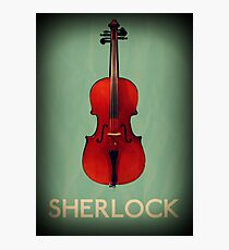 Sherlock Violin Photographic Print