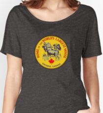 Ontario Moose Vintage Travel Decal Women's Relaxed Fit T-Shirt