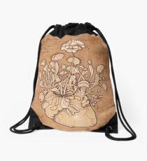 Venus Fly Trap Heart Drawstring Bag
