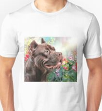 American Staffordshire Terrier Painting  T-Shirt