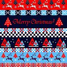 Nordic patterns Merry Christmas by walstraasart