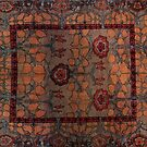 Ancient oriental rug by Sally  Rosenbaum