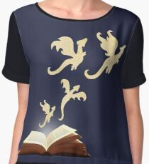 Book Dragons Chiffon Top