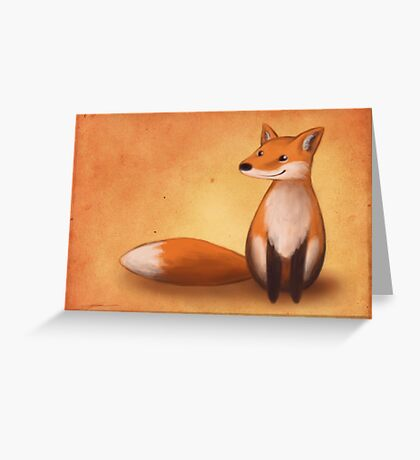 Smiling Fox Greeting Card