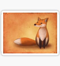 Smiling Fox Sticker