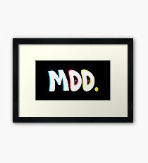 Moo Point Black Framed Print
