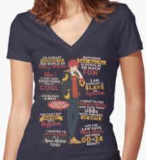707 Quotes Women's Fitted V-Neck T-Shirt