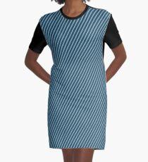 Blue diagonal lines Graphic T-Shirt Dress