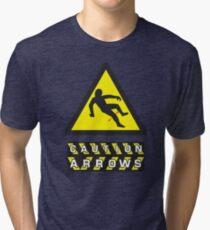 Caution: Arrows Tri-blend T-Shirt