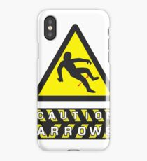 Caution: Arrows iPhone Case/Skin