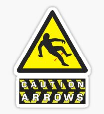 Caution: Arrows Sticker