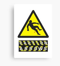 Caution: Arrows Canvas Print