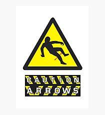 Caution: Arrows Photographic Print