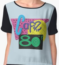Back To The Cafe 80's Chiffon Top