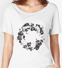 Black orchid flower Women's Relaxed Fit T-Shirt