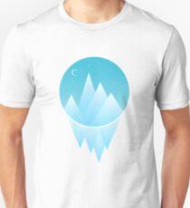 Icicle Mountain Night Sky Unisex T-Shirt