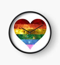 Rainbow Heart - LGBTQ Galaxy Clock
