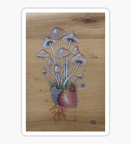 Mushroom Heart II Sticker
