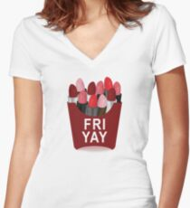 Fri-Yay Women's Fitted V-Neck T-Shirt