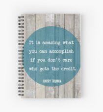 Cuaderno de espiral Harry Truman - ¿Quién se lleva el crédito?