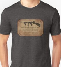 Thompson Submachine Gun. Unisex T-Shirt