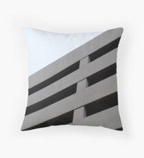 Concrete Building - Brutalist Architecture Throw Pillow