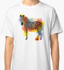 Think Zebras - Rainbow Watercolor Zebra Classic T-Shirt
