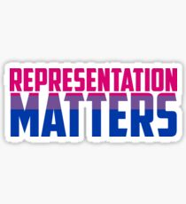 Representation Matters Bisexual Flag | LGBT+ Sticker
