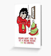 Killer Christmas Cards - Richard Ramirez Greeting Card