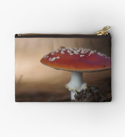 There is a fairy under the toadstool Studio Pouch
