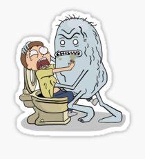 Morty Toilette Sticker