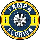 TAMPA FLORIDA NAUTICAL COMPASS ANCHOR BEACH OCEAN ROUND by MyHandmadeSigns
