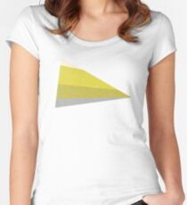 Stripe III Mustard Women's Fitted Scoop T-Shirt