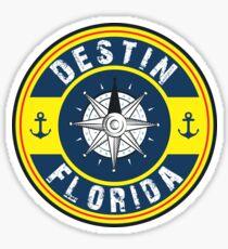 DESTIN FLORIDA NAUTICAL COMPASS ANCHOR BEACH OCEAN ROUND Sticker