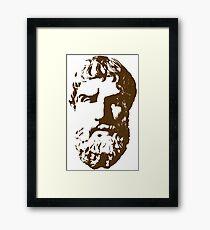 Epicurus Bust Framed Print