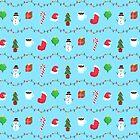 Pixel Weihnachtsmuster von krisdrawsthings