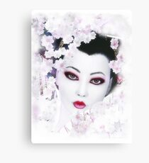Geisha - White Cherry Geisha Canvas Print