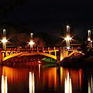 Adelaide's King William Street bridge at night by Ferenghi