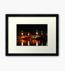 Adelaide's King William Street bridge at night Framed Print