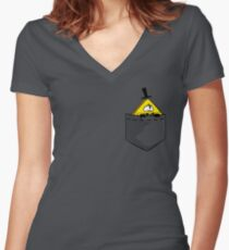 Pocket Cipher Women's Fitted V-Neck T-Shirt