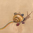 Snail Ride (yellow) by Fay Helfer