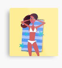 Luxury beach girl : New art in Shop Metal Print