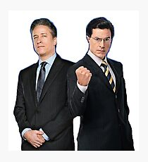 Jon Stewart - Stephen Colbert - The Daily Show - The Colbert Report Photographic Print