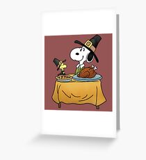 Snoopy Thanksgiving Greeting Card