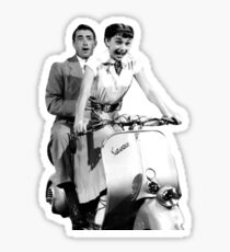 Roman Holiday - Gregory Peck - Audrey Hepburn Sticker