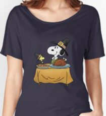 Snoopy Thanksgiving Women's Relaxed Fit T-Shirt